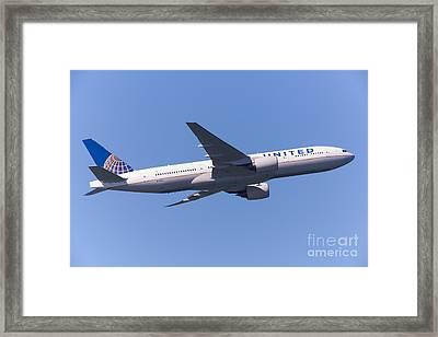 United Airlines Jet 5d29540 Framed Print