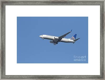 United Airlines Jet 7d21942 Framed Print