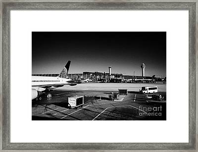 united airlines terminal O'Hare International airport Chicago Illinois USA Framed Print by Joe Fox