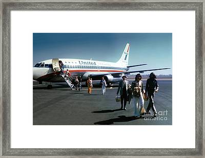 United Airlines Ual Boeing 737-222 N9069u April 1974 Framed Print by Wernher Krutein