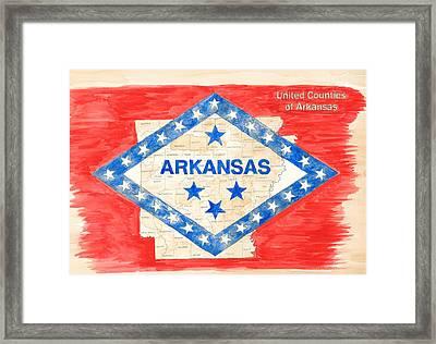 United Counties Of Arkansas Framed Print by Egil Viesturson