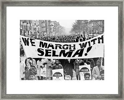 United For Justice Framed Print
