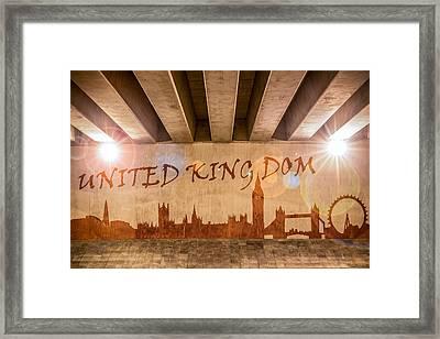 United Kingdom Graffiti Skyline Framed Print by Semmick Photo