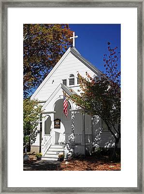 United Methodist Parish House Framed Print by Juergen Roth