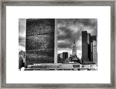 United Nations And Chrysler Building Framed Print