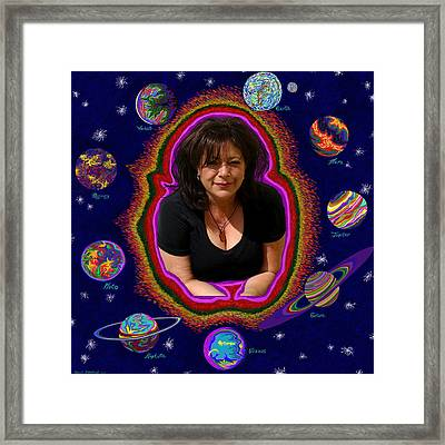 United Planets Of Mona Robin Framed Print