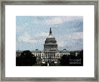 United State Capitol Framed Print