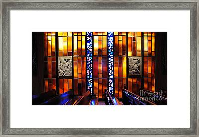 United States Air Force Academy Cadet Chapel Detail Framed Print by Vivian Christopher