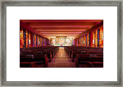United States Air Force Academy Catholic Cadet Chapel Framed Print by Alexis Birkill