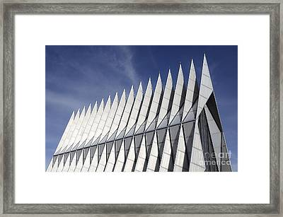 United States Airforce Academy Chapel Colorado Framed Print by Bob Christopher