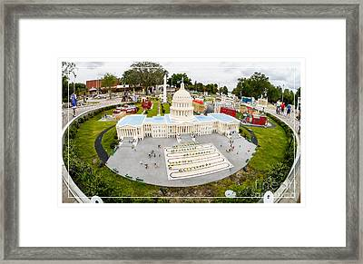United States Capital Building At Legoland Framed Print by Edward Fielding