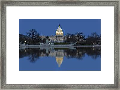 United States Capitol Building Framed Print by Susan Candelario