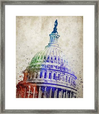 United States Capitol Dome Framed Print