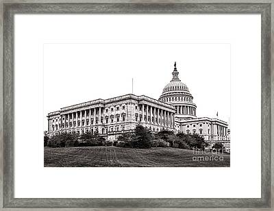 United States Capitol Senate Wing Framed Print