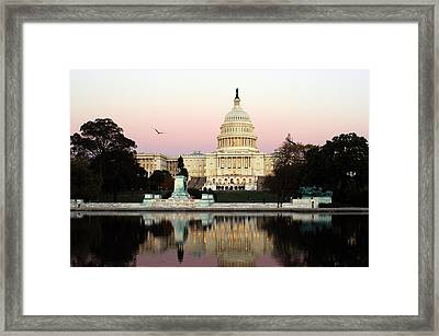 Framed Print featuring the photograph United States Capitol Washington Dc by Yue Wang
