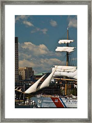 Framed Print featuring the photograph United States Coast Guard Cutter by Caroline Stella