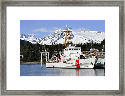 United States Coast Guard Cutter Liberty Framed Print by Cathy Mahnke