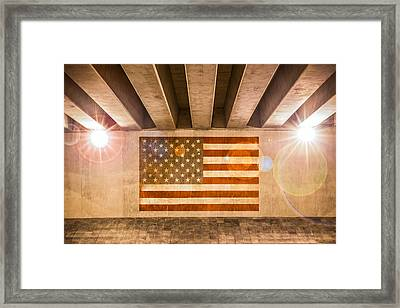 United States Flag Framed Print by Semmick Photo