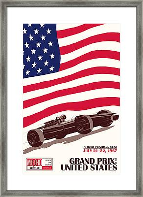 United States Grand Prix 1967 Framed Print by Georgia Fowler