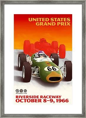 United States Grand Prix California 1966 Framed Print by Georgia Fowler