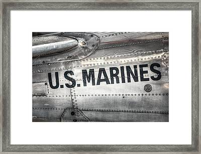 Framed Print featuring the photograph United States Marines - Beech C-45h Expeditor by Gary Heller