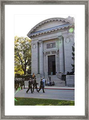 United States Naval Academy In Annapolis Md - 121236 Framed Print