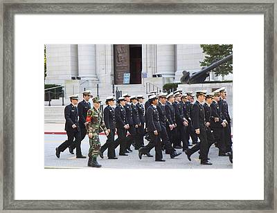United States Naval Academy In Annapolis Md - 121239 Framed Print by DC Photographer