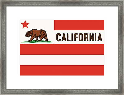 United States Of California Flag Framed Print