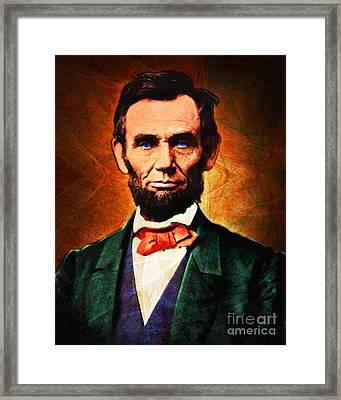 United States President Abraham Lincoln 20140914 Framed Print