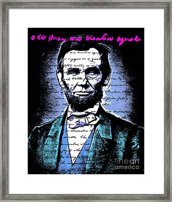United States President Abraham Lincoln Gettysburg Address All Men Are Created Equal 20140914poster Framed Print by Wingsdomain Art and Photography