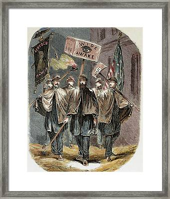 United States Supporters Of Abraham Framed Print
