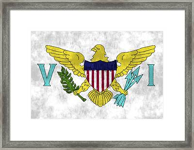 United States Virgin Islands Flag Framed Print by World Art Prints And Designs