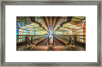 United Tunnel Of Colors Framed Print