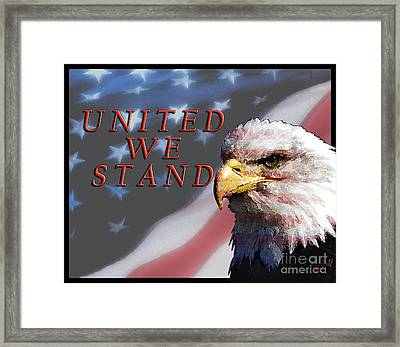United We Stand Framed Print by Lawrence Costales