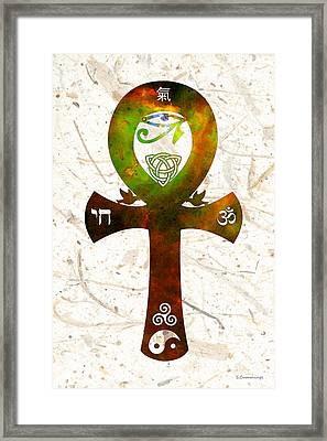 Unity 11 - Spiritual Artwork Framed Print by Sharon Cummings