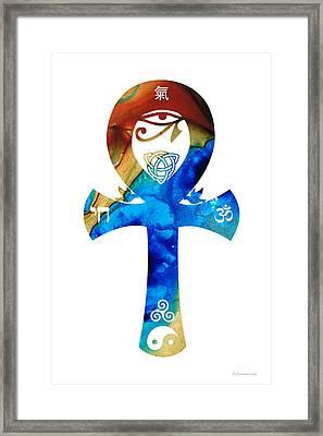 Unity 15 - Spiritual Artwork Framed Print by Sharon Cummings
