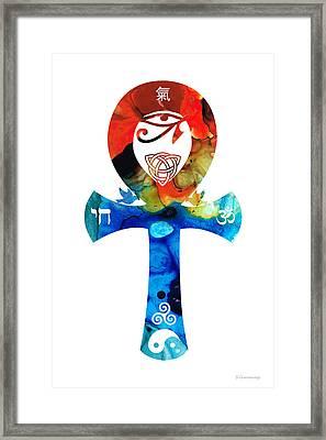 Unity 16 - Spiritual Artwork Framed Print by Sharon Cummings