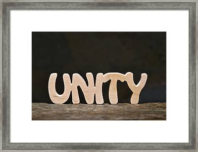 Unity Framed Print by Donald  Erickson