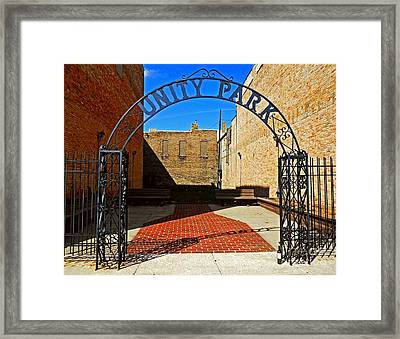 Unity In America Today Framed Print