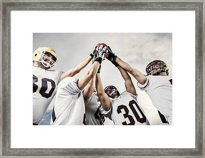 Unity Of American Football Players Framed Print by Skynesher