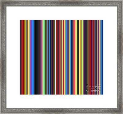 Unity Of Colour Framed Print