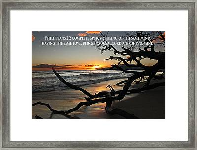 Unity Through Like Minds And Hearts Framed Print by Ronald Suffron