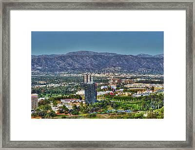 Universal City Warner Bros Studios Clear Day Framed Print