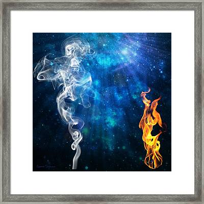 Universal Energies At War Framed Print by Leanne Seymour