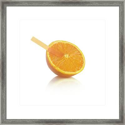 Universal Indicator Test On An Orange Framed Print