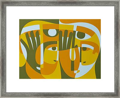 Universal Light Within 2, 1989 Acrylic On Board Framed Print by Ron Waddams