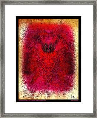 Universal Love Light Peace Black Border Framed Print by Roxy Hurtubise