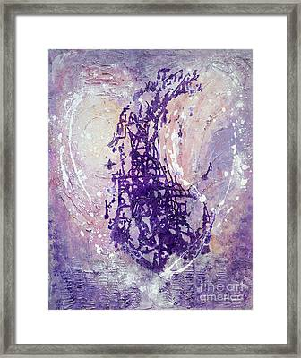 Universal Love Pastel Purple Lilac Abstract By Chakramoon Framed Print by Belinda Capol