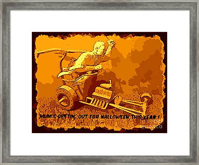 Universal Mosters Mummys Chariot Card Framed Print by John Malone