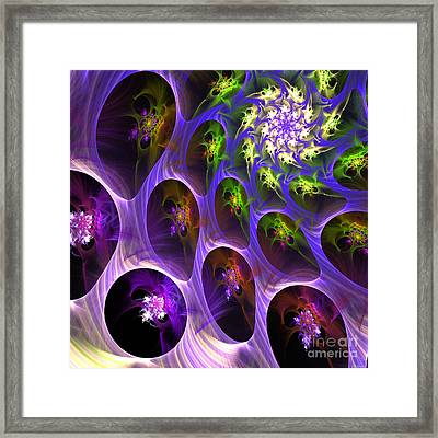 Framed Print featuring the digital art Universal Pods by Arlene Sundby